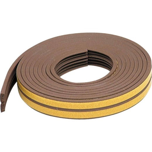 "M-D Brown 17' 3/8""  Extreme Temp Small Gap Rubber Weatherstrip, Brown"