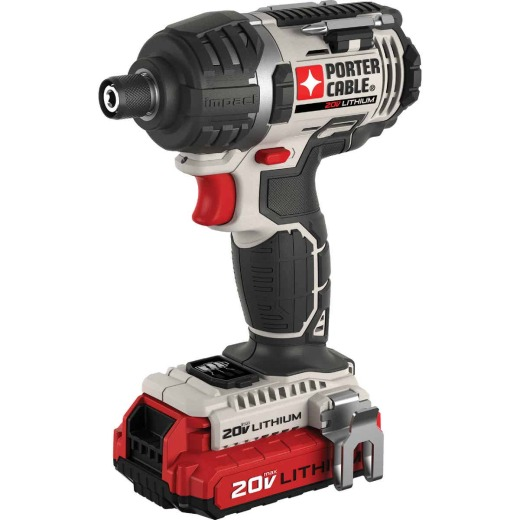 Porter Cable 20 Volt Max Lithium-Ion 1/4 In. Hex Cordless Impact Driver Kit