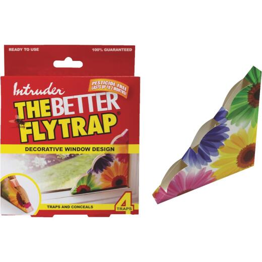 Intruder The Better Flytrap Disposable Indoor Fly Trap (4-Pack)